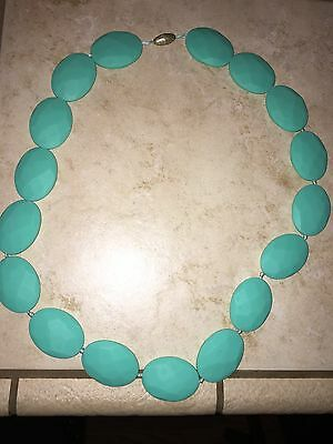 Chew Beads Brand Turquoise Teal Teething Necklace