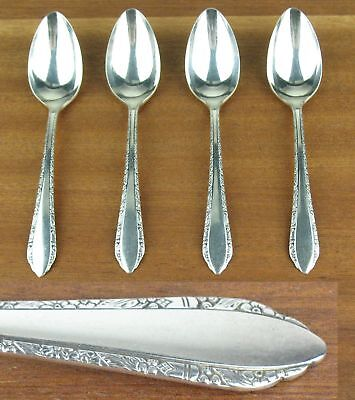 8 x Coffee / Five Oclock Spoons Tudor Oneida Community Madelon 1935 silverplate