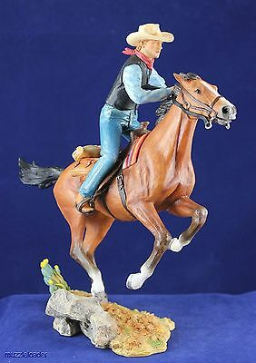 Country Artists Western Working Cowboy on Horse Figurine - New in Box