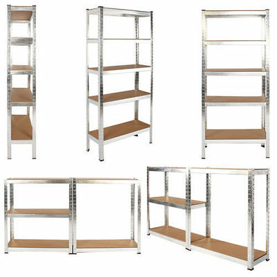 1.8 M Heavy Duty 5 Tier Unit Shelf Storage Boltless Racking Garage Warehouse