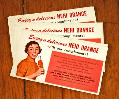 Vintage 1950s Nehi Orange free drink coupons~lot of 10~unused/exc.cond.