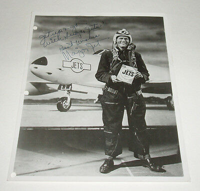 1950's JETS Cereal Box Major Jet signed photo unusual promo