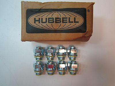 """8 pcs. Hubbell 3513RAC Straight 3/4"""" Insulated Liquid Tight Conduit Fittings NEW"""