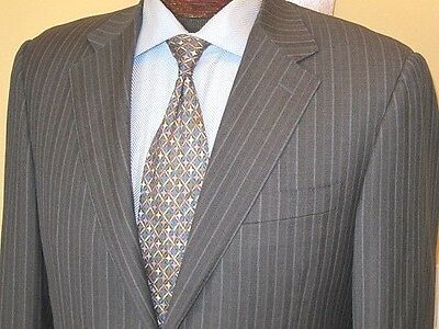 Recent Canali  2-Btn  Striped Wool Suit -Size 40R- Hand Tailored In Italy-