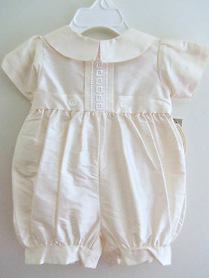Baby Boys New White CHRISTENING Baptism Dedication Blessing SILK Outfit Hat 0-3M