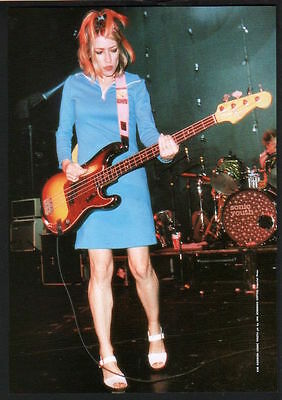 1996 Kim Gordon on stage Sonic Youth JAPAN mag photo pinup mini poster sy08r