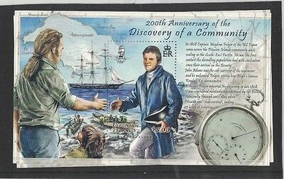 2008 Pitcairn Islands, Bicentenary of Discovery, SG MS 774 MUH