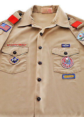 Boy Scouts of America Official Uniform Eagle Scout Shirt with Patches - Adult L