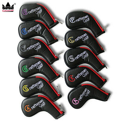 Craftsman Zipper Long Neck Colorful Iron Headcovers Head Cover Easy On off 11pcs