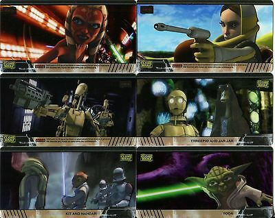 Star Wars Clone Wars Widevision Foil Character Chase Card #7