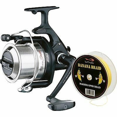 Daiwa Emblem Carp Fishing Spod Reel with Free TF Gear Banana Braid Line
