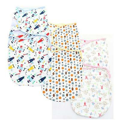 Cotton Soft Baby Infant Swaddle Wrap Blanket Sleeping Bag For 0-6 Months Z