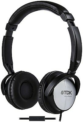 TDK ST170 Over-Ear Headphones - Black with Microphone Mic