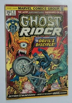 Ghost Rider #8 Very Fine+ 1974 Marvel Comics Off White To White Pages