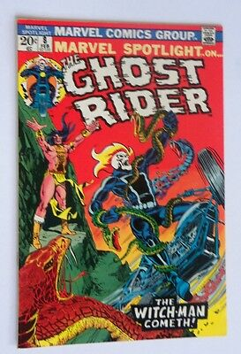 Marvel Spotlight #8 Ghost Rider Near Mint- 1973 White Pages