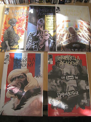The UMBRELLA ACADEMY : COMPLETE RUN of #s 1,2,3,4,5 by WAY & BA. DARK HORSE.2008
