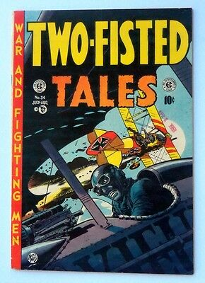Two Fisted Tales #34 Original Ec Comic Book 1954 Very Fine+ Off White Pages