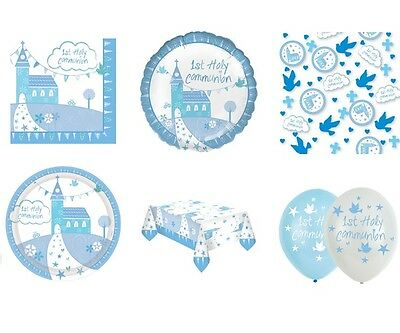 1st HOLY COMMUNION CHURCH BLUE/BOY Party Range -Tableware & Decorations {AMSCAN}