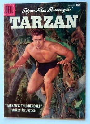 Tarzan The Ape Man #99 Original Comic 1957 Very Fine Gordon Scott Erb White Pgs