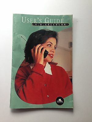 1990's Vintage L.A. Cellular User's Manual, Cell Phone Booklet