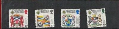 Mint 1987 Gb Scottish Heraldry Order Of The Thistle Stamp Set Of 4 Muh Stamps