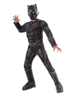 Child's Boys Deluxe Avengers Black Panther Captain America Civil War Costume