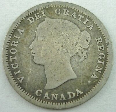 1858 5 Cent Canadian Silver Coin ~3860B~