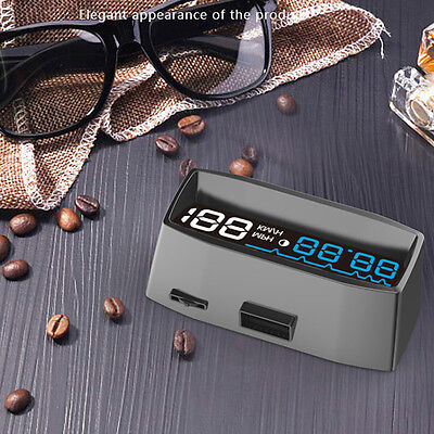 OBDII Car HUD Projector Head Up Display Time Voltage Overspeed Warning MA1148