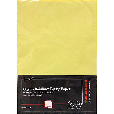 PaperState - Basic A4 Rainbow Typing Paper - 80 Gsm - 60 Sheets