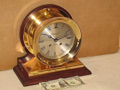 Chelsea Antique Ships Bell Clock~~Commander Model~6 In Dial~1906~Restored