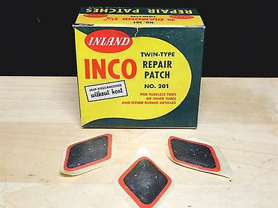 INLAND * INCO * Twin-Type Repair Patches SELF-VULCANIZING ~ No. 201 * BOX of 40