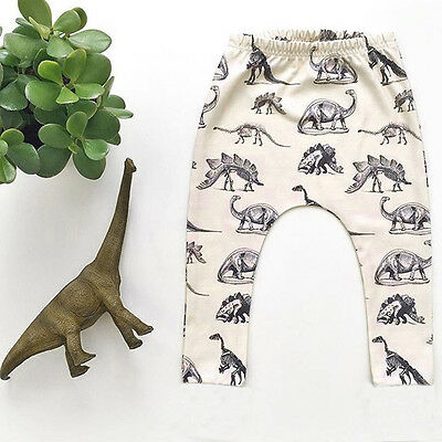 Toddler Kids Boys Dinosaurs Print Elasticity Pants Lovely Harem Trousers