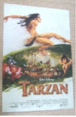 Tarzan Original 2/s Style A Rolled Movie Poster 1999 Double Sided Erb