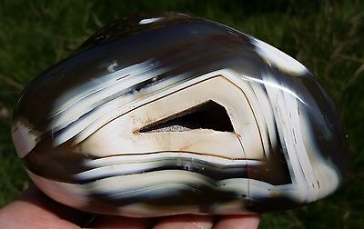 BEST!!! AAAAA+ 540g Spirit of the rare exhibits stripe agate stones (MD020)