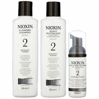 Nioxin System 2 3 Part Kit for Noticeably Thinning Fine Hair for all