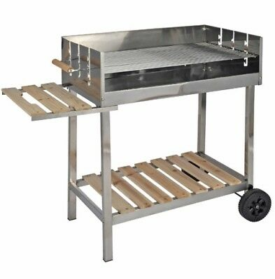 Grill Stainless steel XXL Barbecue cart Coal BBQ Charcoal wheelable wheeled