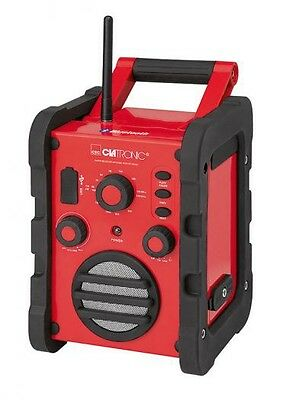 Construction Site Radio with USB, Bluetooth and Aux-In Clatronic BR 835 BT