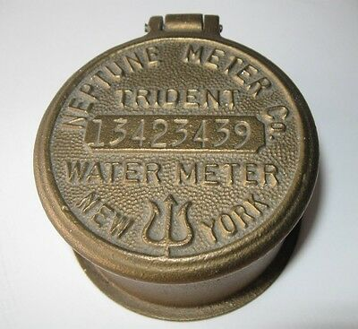 Vintage Neptune Meter Co Trident Water Cover NY Repurposed Picture Frame