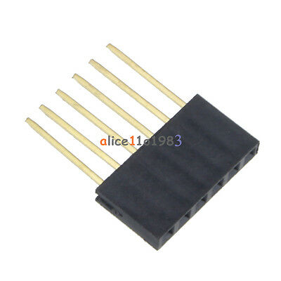 100PCS 6 Pin 2.54 mm Stackable Long Legs Femal Header For Arduino Shield