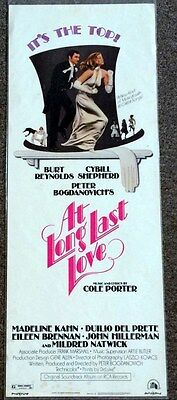 At Long Last Love 14X36 Original Rolled Movie Poster 1975 Insert Burt Reynolds