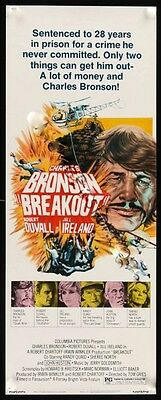 Breakout 14X36 Original Rolled Movie Poster Insert 1975 Charles Bronson