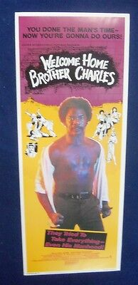 Welcome Home Brother Charles 14X36 Original Rolled Movie Poster Insert 1975