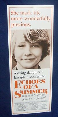 Echoes Of A Summer 14X36 Original Rolled Movie Poster Insert 1976 Lois Nettleton