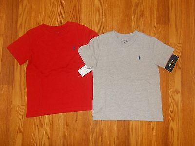 NEW POLO RALPH LAUREN Boy's Size 4 Lot Two Summer T-Shirts Tops NWT