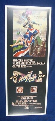 Royal Flash 14X36 Original Rolled Movie Poster Insert 1975 Malcolm Mcdowell