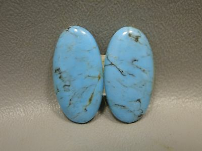 Turquoise Cabochons Matched Pair for Earring Blue Semi Precious Gemstone #1