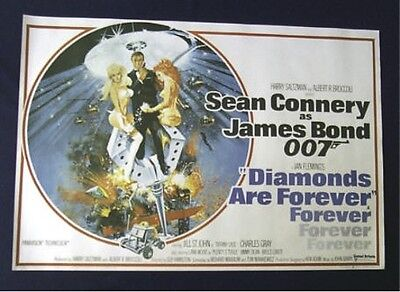 Diamonds Are Forever James Bond Mint Rolled British Quad Movie Poster 007