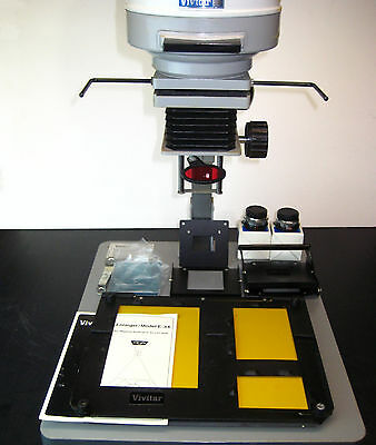 Vivitar E-34 Photographic Darkroom Enlarger w/ 50 & 75mm lenses