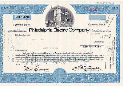 Philadelphia Electric Co. 1982 blau