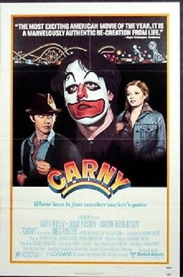 Carny Original Rolled 27X41 Movie Poster Rare Style B 1980 Jody Foster